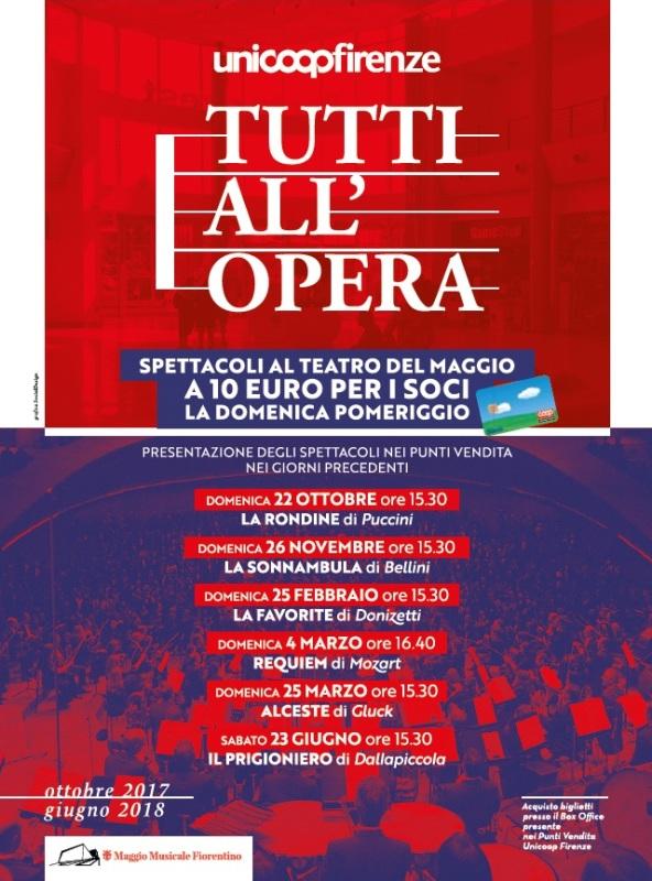 Tutti all'Opera: tanti spettacoli per l'iniziativa di Unicoop Firenze e Maggio Musicale Fiorentino