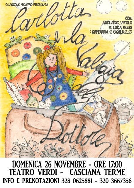 Per la rassegna di domeniche per bambini e famiglie Carlotta e la valigia del Dottore al Teatro Verdi Giuseppe