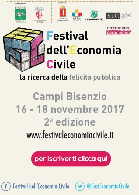 Festival dell'Economia Civile, incontri e progetti alla ricerca della felicità pubblica