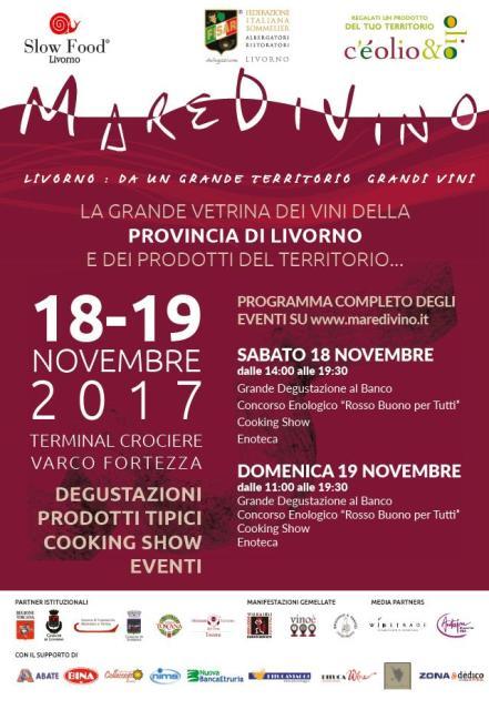 MareDiVino edizione 2017: la grande vetrina dei vini del territorio livornese e della Costa degli Etruschi
