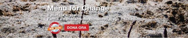 Menù for Change entra nel vivo con le ricette amiche del clima