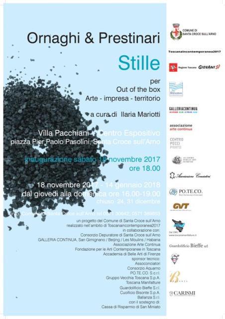 """La mostra """"Ornaghi & Prestinari – Stille"""" a cura di Ilaria Mariotti al Centro Espositivo di Villa Pacchiani"""