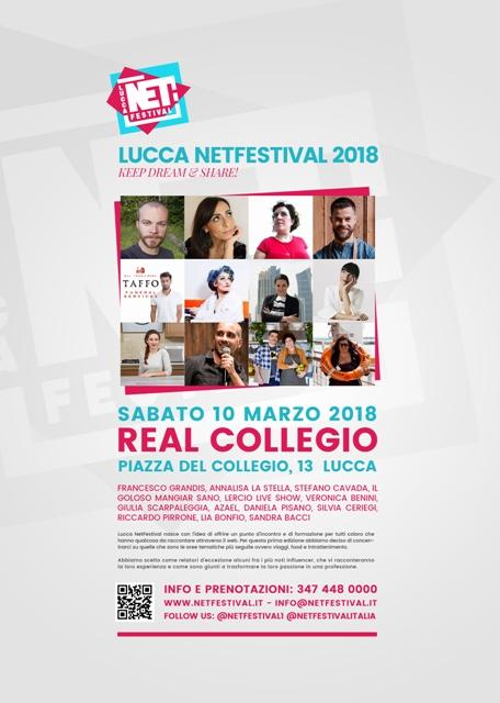 """Al Real Collegio arriva la 1° edizione di """"Lucca net Festival"""" incontri, workshop e seminari, legati al mondo dei Web Influencer"""