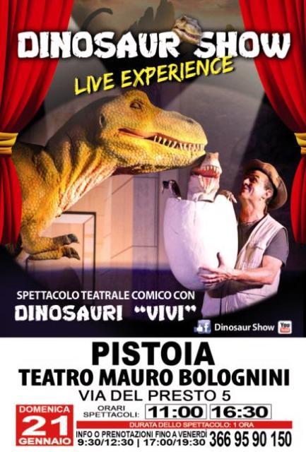 """""""Dinosaur Show Live Experience"""" arriva anche al Teatro Mauro Bolognini"""