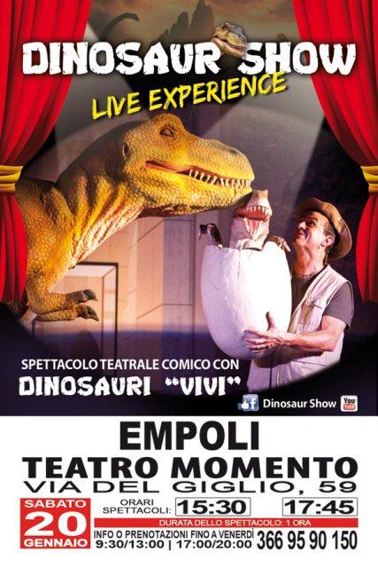 """Al Teatro del Momento arriva """"Dinosaur Show Live Experience"""" uno spettacolo comico e divertente"""