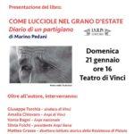 [ Vinci ] Diario di un partigiano: presentazione al Teatro di Vinci del libro di Marino Pedani