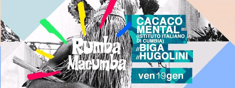 BUH, venerdì 19 la Cumbia esplosiva di Cacao Mental, sabato 20 Eugenio in Via di Gioia