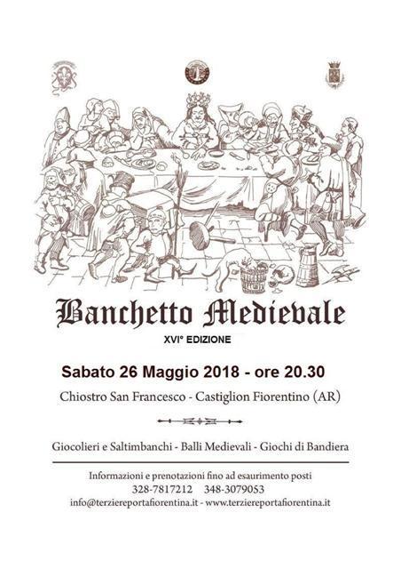 16° edizione del Banchetto Medievale nel suggestivo chiostro di S. Francesco