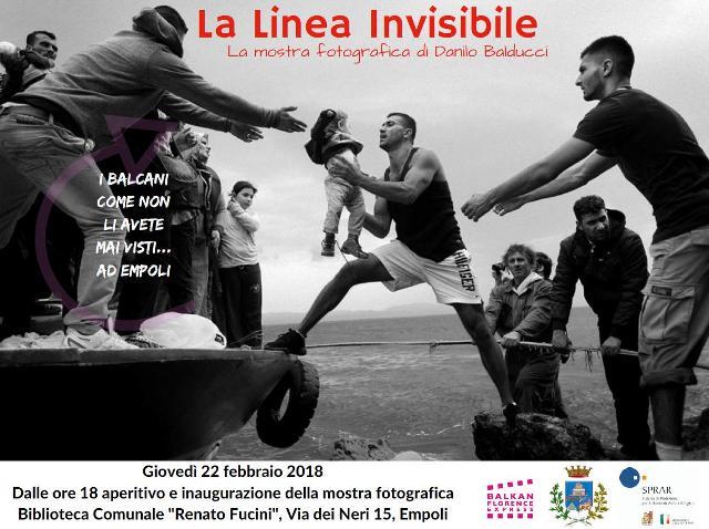 """Balkan Florence Express ferma anche ad Empoli: una mostra """"La Linea Invisibile"""" e uno spettacolo """"Albania, Casa mia"""""""