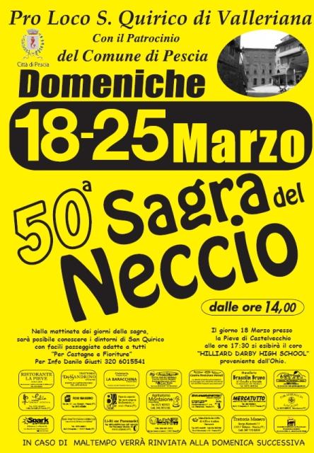50° Sagra del Neccio a San Quirico Valleriana