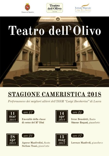 Stagione Camerista 2018 con i concerti degli allievi del Boccherini