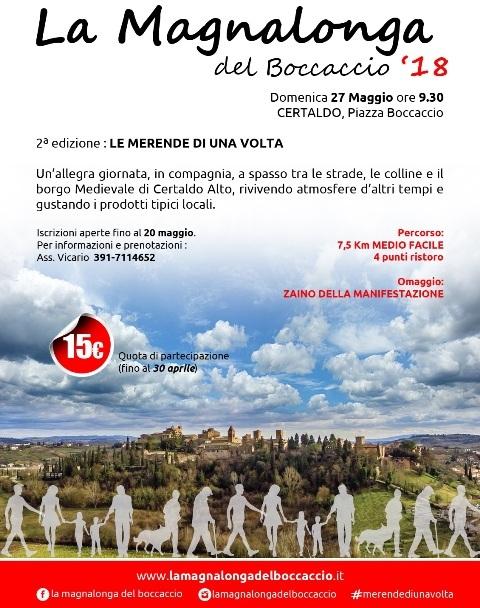 2° edizione della La Magnalonga del Boccaccio. Passeggiata enogastronomica per le vie e le colline del Borgo Medioevale
