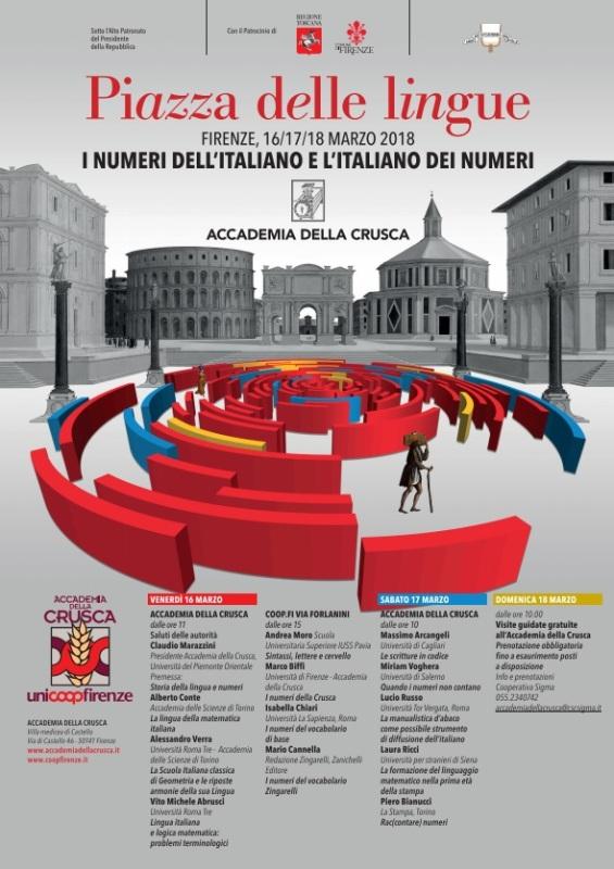Torna a Firenze La Piazza delle Lingue a cura dell'Accademia della Crusca