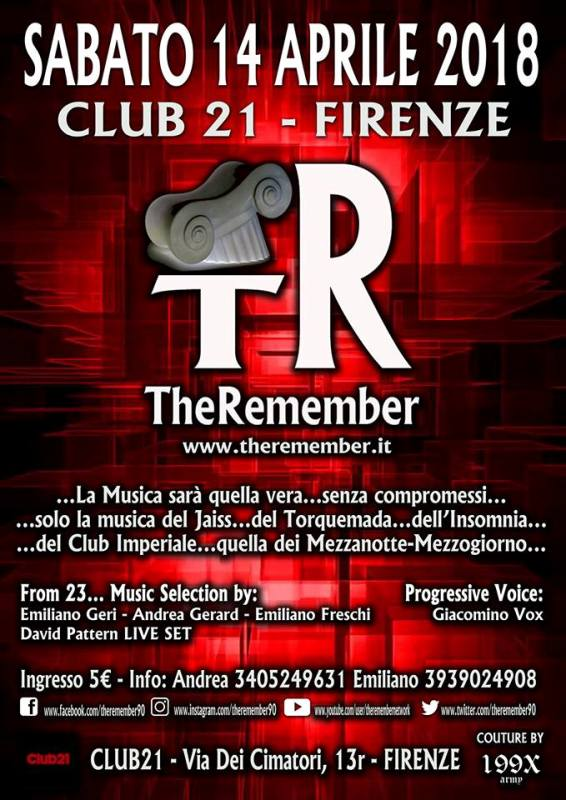 The Remember approda al Club 21 di Firenze