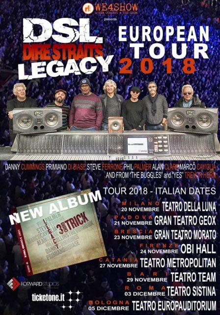 DSL Dire Straits Legacy saranno in concerto con il loro tour Europeo all'Obihall