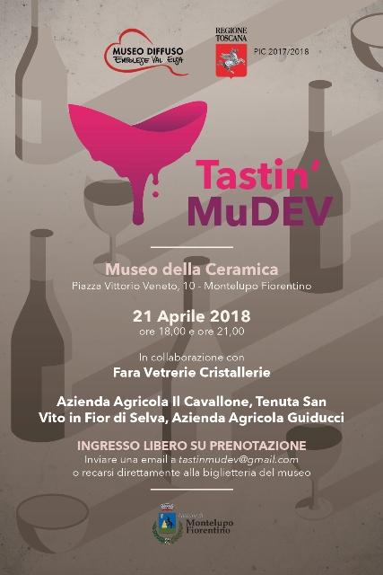 Tastin'MuDEV un percorso polisensoriale tra arte e degustazioni enologiche al Museo della Ceramica