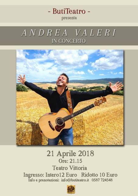 La Stagione Teatrale di Buti Teatro si chiude con il concerto di Andrea Valeri