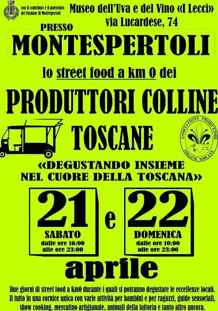 Degustando insieme nel cuore della Toscana, lo street food a km 0 dei Produttori Colline Toscane