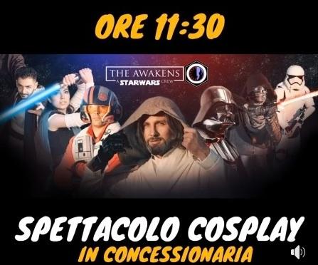 The Awakens, a Star Wars Crew: spettacolo in concessionaria da Tinghi Motors a Empoli