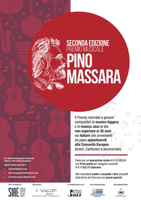 """Premio internazionale """"Pino Massara"""" per compositori under 35 di pop e jazz, seconda edizione del concorso nazionale"""