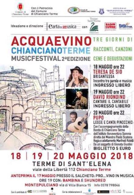 Acqua e Vino Chianciano Terme music festival 2° edizione