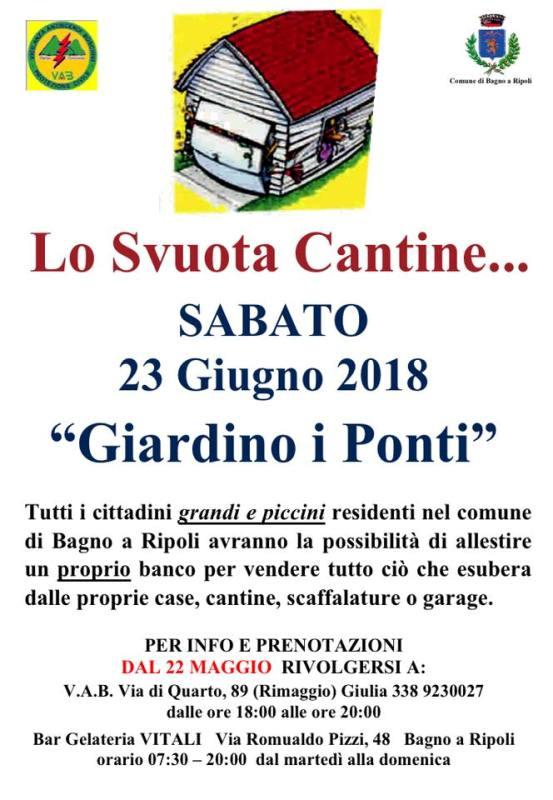 Torna lo Svuota Cantine… presso il Giardino dei Ponti a Bagno a Ripoli
