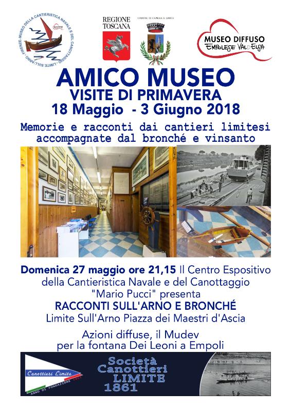 """Anche Capraia e Limite si muove per """"Amico Museo"""" con """"Racconti d'Arno e bronchè"""""""
