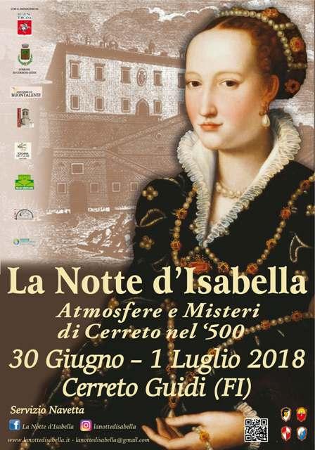 La Notte d'Isabella, la grande rievocazione storica nel centro storico di Cerreto Guidi