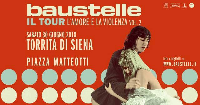 Baustelle in concerto in Piazza Matteotti a Torrita di Siena