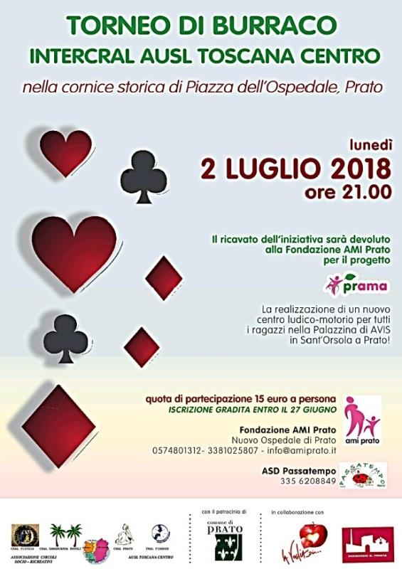 Torneo di Burraco per Fondazione AMI Prato – progetto Prama