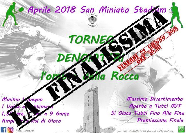 Finalissima del torneo Denoiattri presso il circolo tennis club di San Miniato