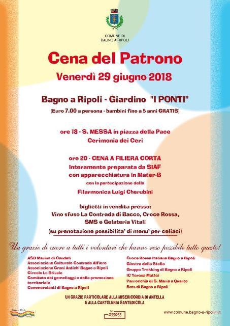 Bagno a Ripoli ] Cena del Santo Patrono al giardino I Ponti a Bagno ...