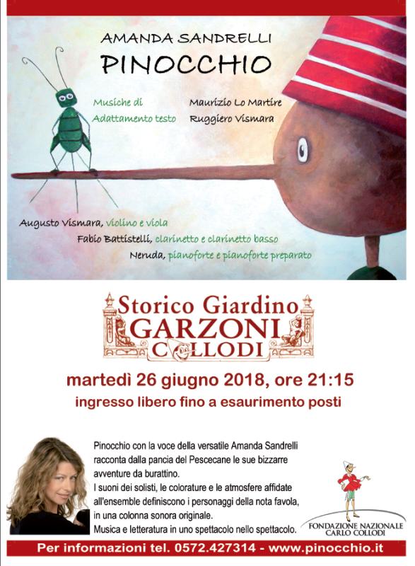 Amanda Sandrelli in scena allo Storico Giardino di Villa Garzoni. Ingresso gratuito