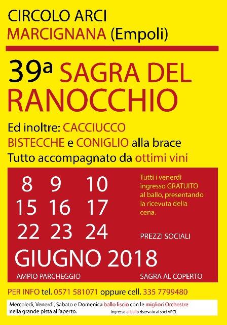 Sagra del Ranocchio 39^ edizione al Circolo ARCI di Marcignana