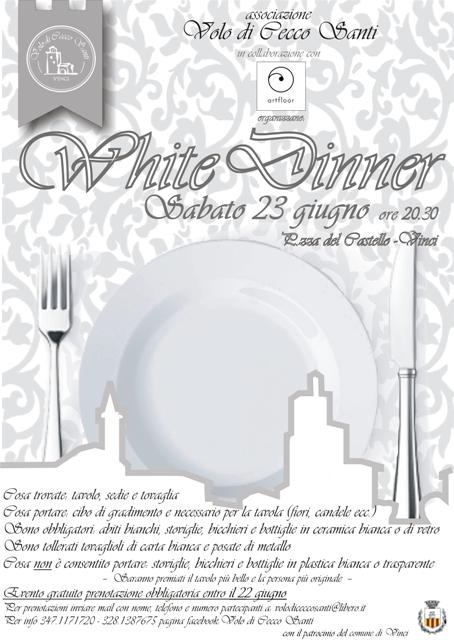 White Dinner seconda edizione in Piazza Guido Masi organizzata dall'Associazione Volo di Cecco Santi