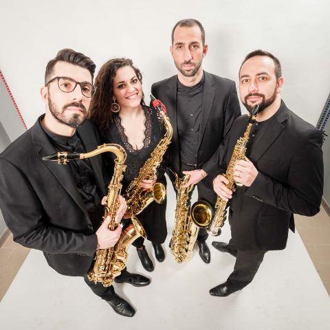 """Triskeles Saxophone Quartet approda in Toscana con il tour """"Triskeles all'opera"""" nelle provincie di Arezzo e Siena"""