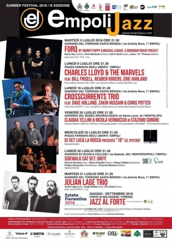 All'Empoli Jazz Summer Festival arrivano i Forq. Tutto il programma