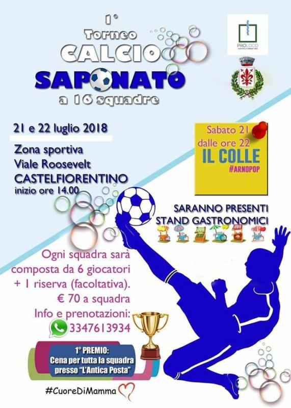 Il Calcio saponato arriva a Castelfiorentino