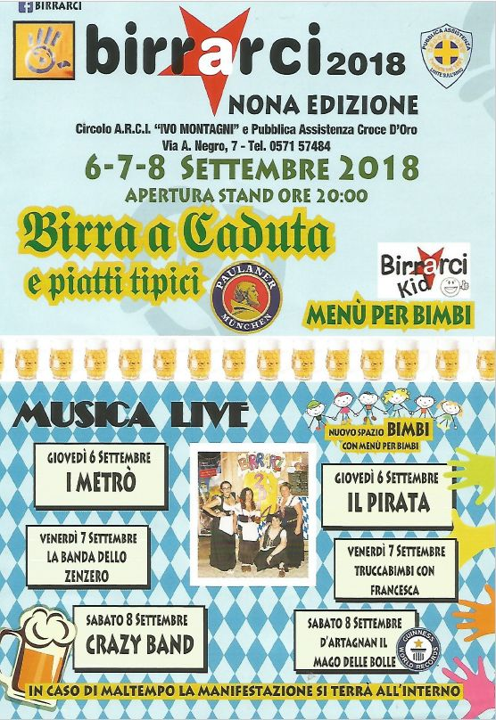 BirrArci 2018 Nona Edizione Limite Sull'Arno