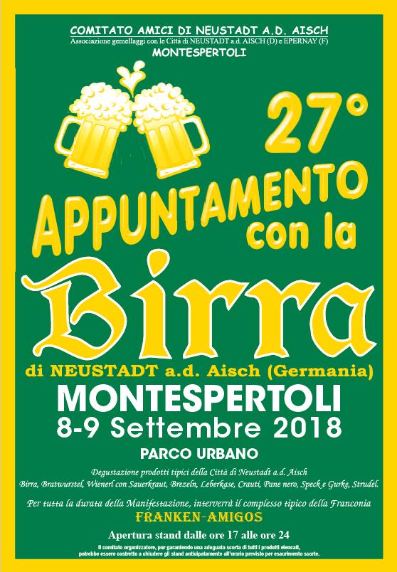 Appuntamento con la Birra di Neustadt a.d. Aisch al Parco Urbano Castello di Sonnino a Montespertoli