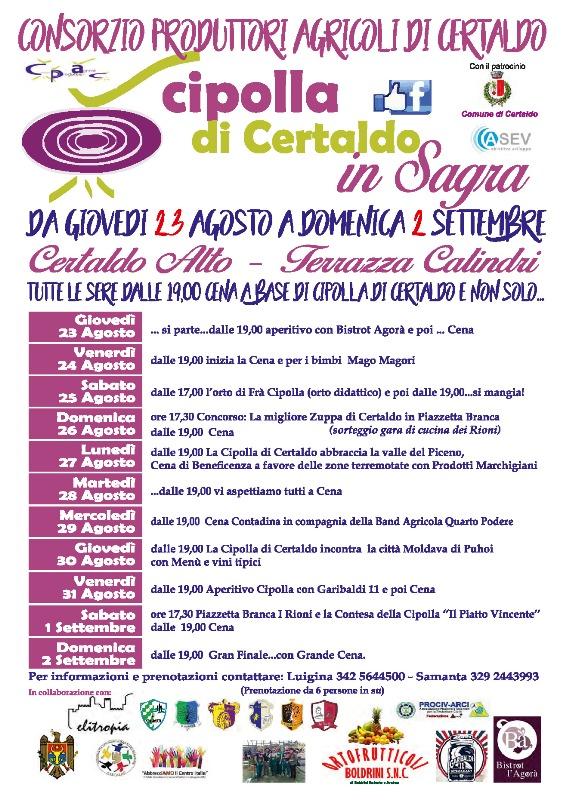 Cipolla di Certaldo in Sagra edizione 2018