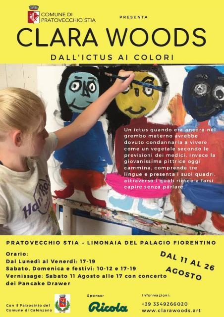Clara Woods conquista la sua quarta personale, l'artista dodicenne che non può parlare ma comunica con il resto del mondo dipingendo