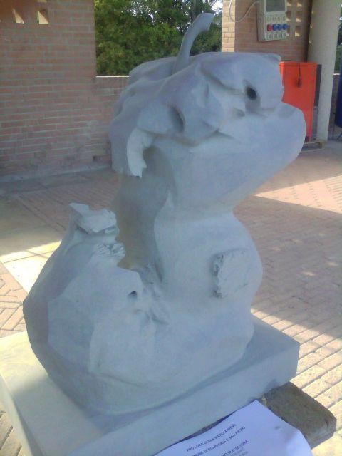 un blocco per gli scultori