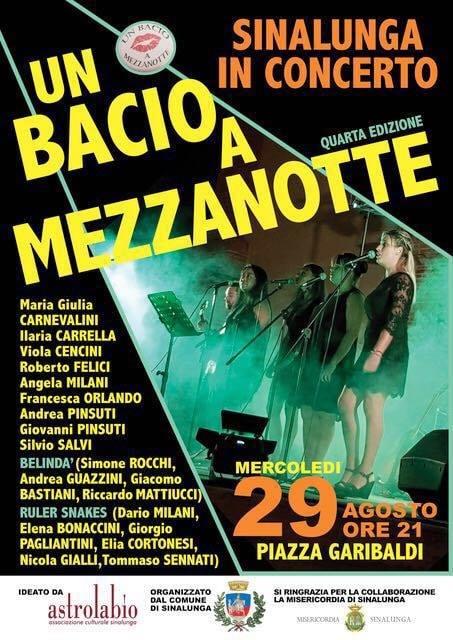 Un bacio a mezzanotte: quarta edizione dell'evento musicale a Sinalunga