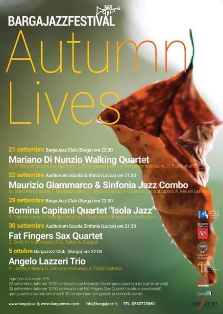 BargaJazz Autumn Lives, concerti e seminari