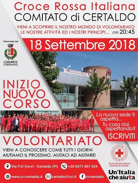 Diventa volontario della Croce Rossa Italiana di Certaldo, ecco come aderire ai corsi