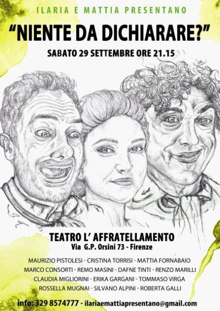 Niente da dichiarare? commedia brillante in tre atti al Teatro L'Affratellamento di Firenze