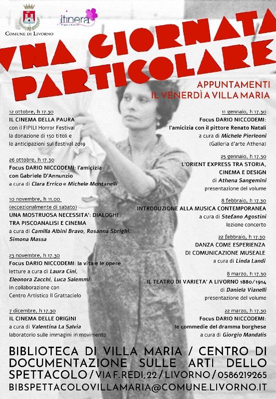 Al via la seconda edizione della rassegna Una  giornata particolare alla Biblioteca di Villa Maria a Livorno