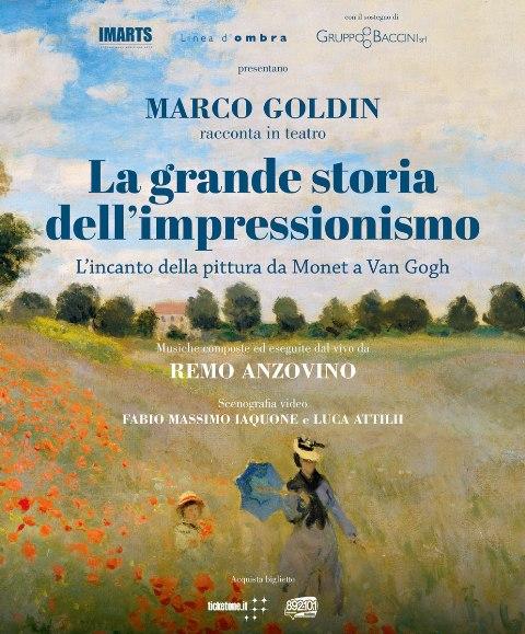 La grande storia dell'impressionismo racconta Marco Goldin e musiche Remo Anzovino al Teatro Obihall
