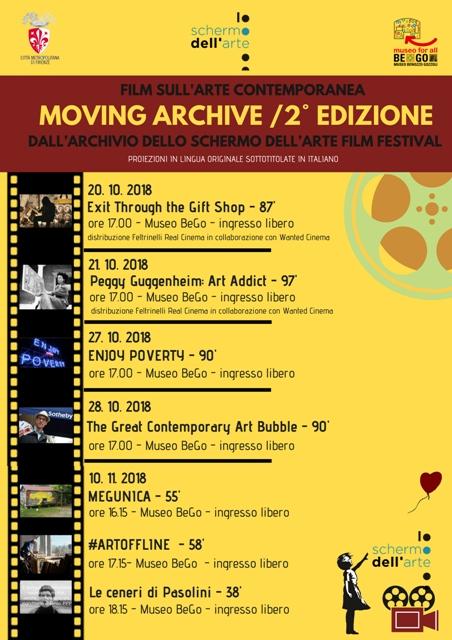 Moving Archive rassegna di film sull'arte contemporanea al Museo Benozzo Gozzoli